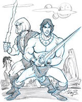 Blackstar and Thundarr by tombancroft