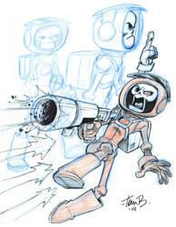 Skull Chaser sketches by tombancroft