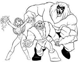 Thundarr, Ookla and Ariel by tombancroft
