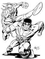 Powerman and Iron Fist: Homage to Gil Kane by tombancroft