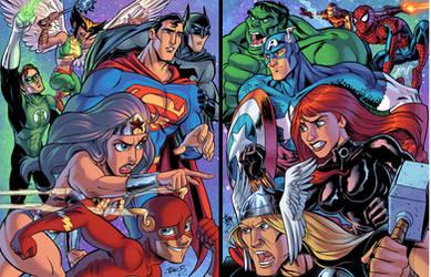 DC vs. MARVEL by tombancroft