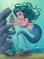 Mermaid with Plant by tombancroft