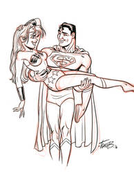 Petty Inspired Supes and WW by tombancroft