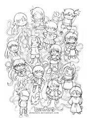 Anime Girlz by demeters