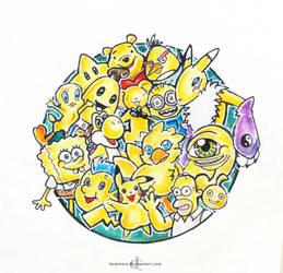 Yellow friends by demeters