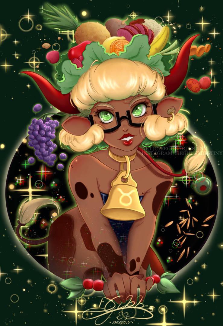 Taurus - Horoscope Sign w/ Glasses by lDestiny