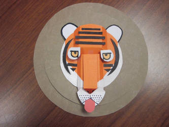Charley Harper inspired tiger by nut-meggers