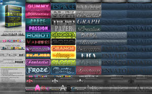 Photoshop Styles BUNDLE pack 1 by KoolGfx