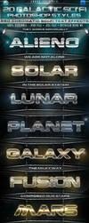 20 Galactic Sci-Fi Chromatic PS Styles by KoolGfx