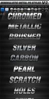 Minimalistic Metal PS Layer Styles V2 by KoolGfx