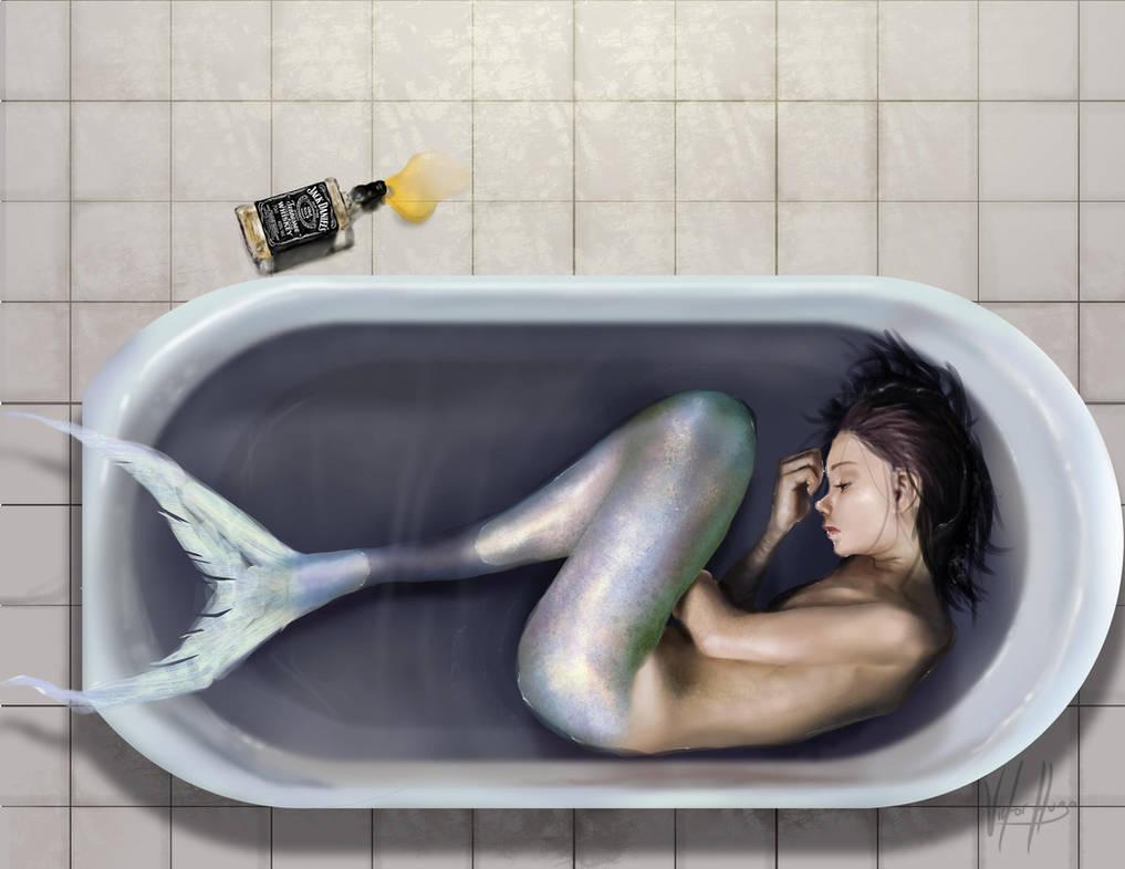 Sad Mermaid by VictorHugoJR