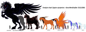 Equine species sizechart by moonfeather