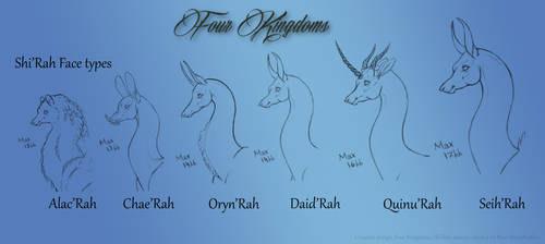 Shi rah Face Types by moonfeather