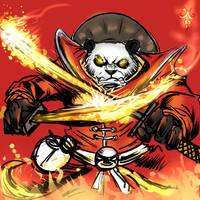 FireBlade Pandaren by ManiacPaint