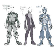 SKetch 112 : Mercenaries Clothes by ManiacPaint