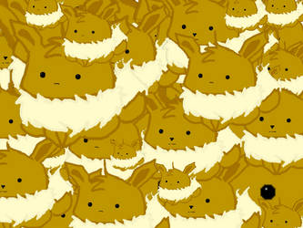 23,000 eevees staring into your soul! by disturbed66
