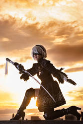 Nier: Automata 2B Cosplay by CrystalMoonlight1