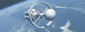 DSEV Robert A Heinlein in Earth orbit by Paul-Lloyd