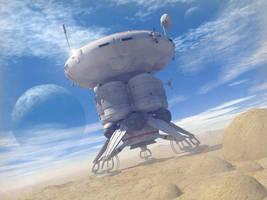 Landing On A Dusty Planet by Paul-Lloyd