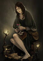 Dreaming witch by Reneder
