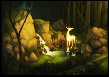 Magic deer! by Reneder