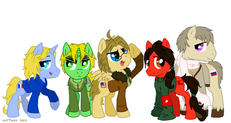 MLP Hetalia: The Allies by xXCystalTheWolfXx