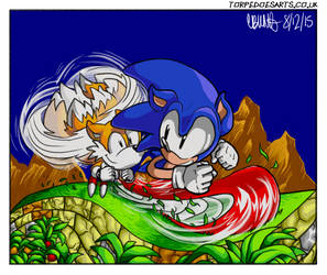 Sonic + Tails: Aquatic Ruin Zone by torpedoes42
