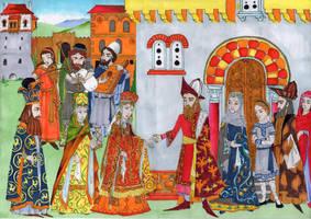 Byzantine greek nobility engagement 15th century by strix-nebuloso