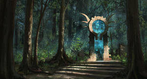 Forgotten Portal by arenirart