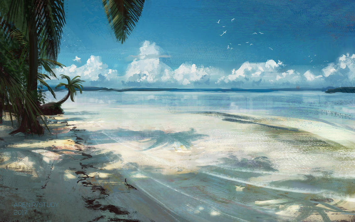 Beach study by arenirart