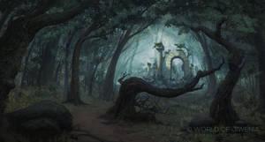 Way through the Dark Forest by arenirart