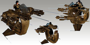 Tesla Powered Gun-Wing by TKingArt