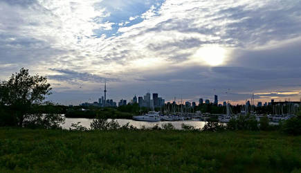 Toronto City and Harbor by stephtastic14