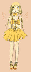 Yellow girl for giwi by Qurtii