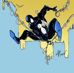 black spiderman by AnubisGabriele
