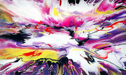 Abstract Fluid Painting 29 by Mark-Chadwick