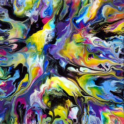 Fluid Painting 89 Acrylic Abstract Art by Mark-Chadwick