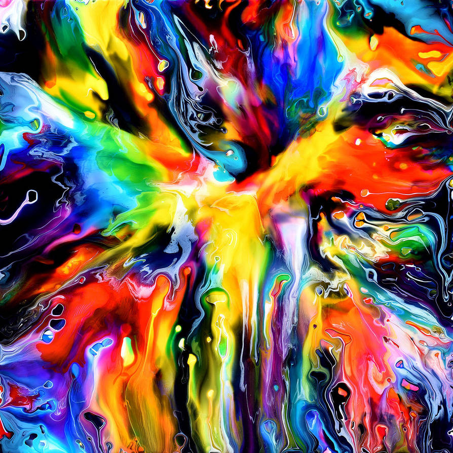 Fluid Painting 121 by Mark-Chadwick
