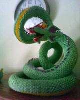 3d Origami Serpent by dfoosdc