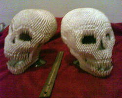 3d Origami Skulls by dfoosdc