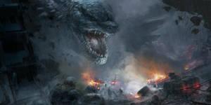 Godzilla fan art by benzyvyngona
