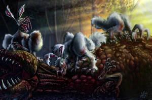Sabertooth Bunnyraptor by thevilbrain