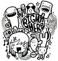 doodle by alphadikei
