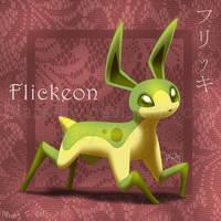 Flickeon :Fan Pokemon: by BlazeTBW