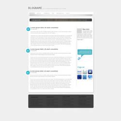 White n Blue Blog by phenomart