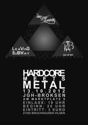 'HARDCORE MEETS METAL'  Flyer by phenomart