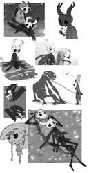Doodles - Hollow Knight Fanart by Zummeng