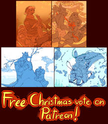 Free Christmas Vote on Patreon by Zummeng