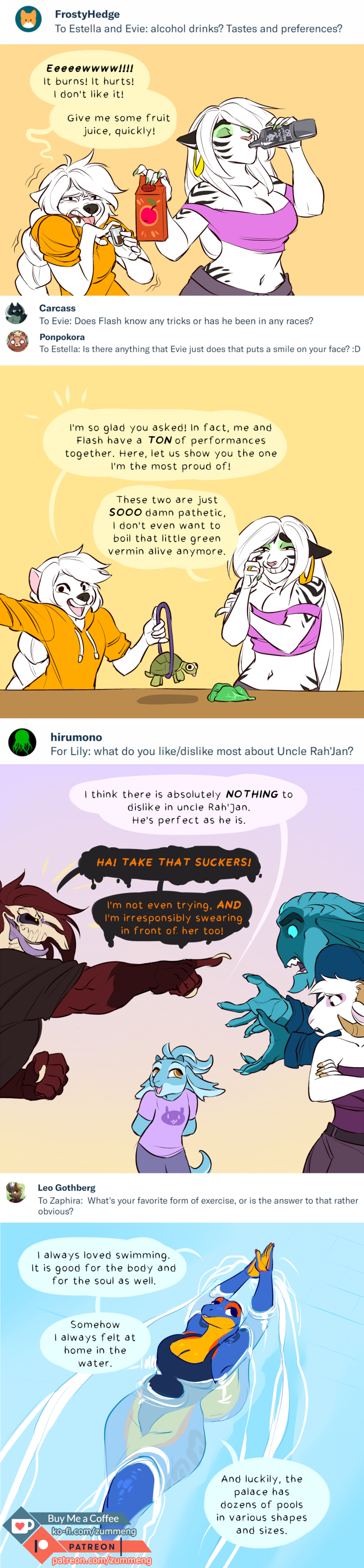 Patreon Qna January By Zummeng On Deviantart
