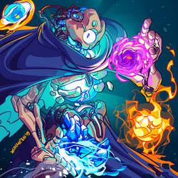 Defect - Slay the Spire Fanart + Free AVI by Zummeng